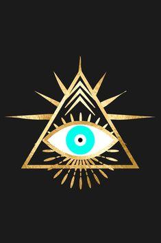 Geometric Shapes Art, Geometric Designs, Hamsa Art, Evil Eye Art, Triangle Art, Eye Painting, Mandala, Arte Pop, Pattern Wallpaper