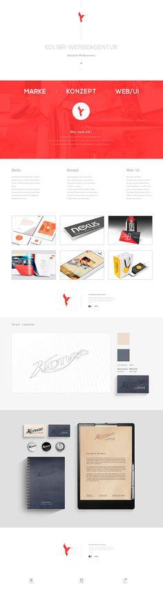 Website layout by Karsten Tessmann, via Behance