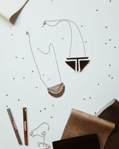Geometrische Kette aus Leder selbermachen | ellawayfarer.com