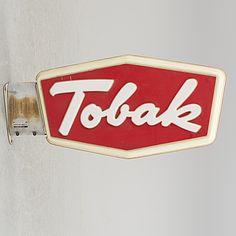 REKLAMSKYLT - Tobak, 1900-talets mitt.