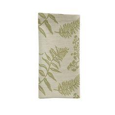 Fern Fabric Cloth Table Napkin Table Napkin, Natural Home Decor, Cloth Napkins, Earth Tones, Ferns, Texture, Pillows, Rugs, Garden