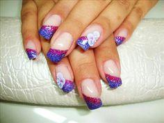 Purple french gelish nails