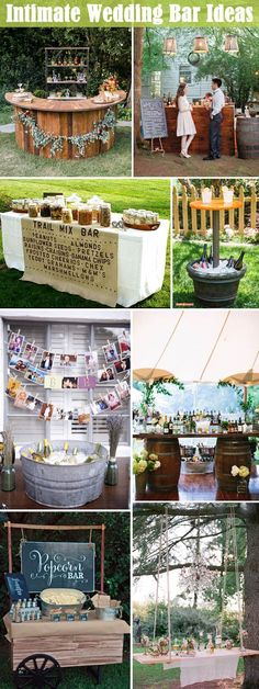 Intimate small wedding bar ideas to get your guest involed