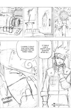 The full chapter in which Kakashi's face is revealed. That clever guy!