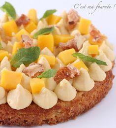 Fantastik mangue passion Dessert Aux Fruits, Bon Dessert, Pastry Recipes, Cooking Recipes, Vegan Desserts, Dessert Recipes, Vegan Challenge, Vegan Curry, Number Cakes