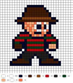 Freddy Krueger Perler Bead Pattern
