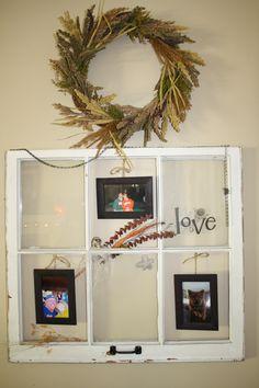 my old window frame art - Window Frame Art