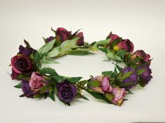 RESERVED for Lily Silk Flower Crown by blueorchidcreations