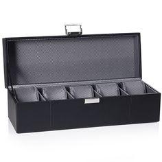Porta-relógios em couro sintético preto. Vivara. Porta Relógios. R$ 170.00
