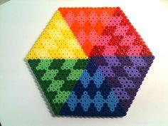 perler bead geo art by queenbee1977, via Flickr