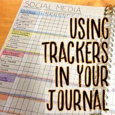 This article talks about the benefits of using different trackers and shares some great ideas and inspiration for trackers you can use in your own bullet journal or planner Bullet Journal Tracker, Bullet Journals, Dot Grid Notebook, Notebooks For Sale, Diy Journaling, Journalling, Keeping A Journal, Stationery Items, Planner Supplies