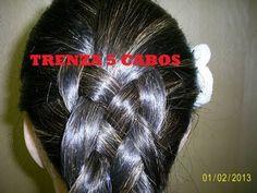 Peinado Facil: Trenza Francesa Cinco Cabos ♥ Shelby Ruiz M - YouTube