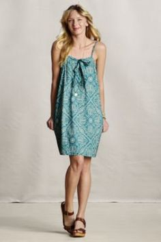 Women's Voile Tie-Front Beach Dress  from Lands' End Canvas