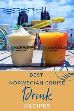 Are you dreaming of your next cruise vacation? If so, why not try to recreate the ambience at home with your favorite cruise drinks? Here we share the best drink recipes from Norwegian Cruise Line. You have 12 recipes from which to choose. Check out this post and mix up your favorite cruise cocktail this weekend! It will keep you going until cruising resumes. #NorwegianCruiseLine #NCL #CruiseDrinks #DrinkRecipes #CruiseVacation