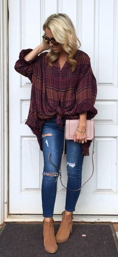 Style snapshot of fall outfits you can wear everyday this season. Casual looks you need for a stylish wardrobe! Fall Winter Outfits, Autumn Winter Fashion, Winter Flannel Outfits, Winter Clothes, Winter Wear, Fall Fashion 2018, Fall Outfits 2018, Look Fashion, Womens Fashion