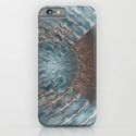 iPhone & iPod Case Abstract blue grey by Christine Baessler