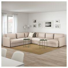 VALLENTUNA Sectional, 5-seat corner - Murum beige - IKEA