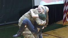 Soldier Surprises Daughters At School - Heartwarming Reactions!
