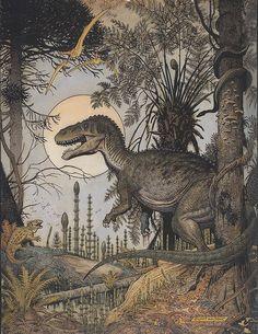 Megalosaur by William Stout