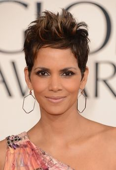 Halle Berry Short Spiked Pixie Cut - 2013 Golden Globe Awards Hairstyles - Find more hairstyles on hairstylesweekly.com