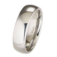 7mm White Tungsten Carbide Polished Classic Wedding Ring Band ** Check out the image by visiting the link. (This is an affiliate link) #MenWeddingRings