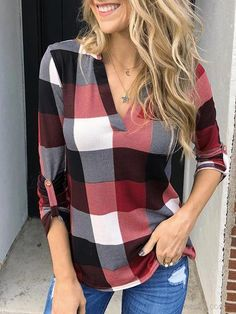 Plaid Outfits, Casual Outfits, Fashion Outfits, Sporty Fashion, Mom Outfits, Casual Clothes, Women's Clothes, Fashion Fashion, Autumn Fashion