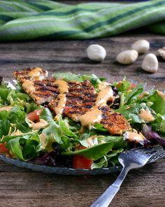 Santa Fe Chicken Salad. Made this last night for dinner. So yummy! Hubs loved it.