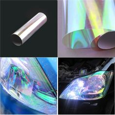 Chameleon Headlight Protective Film Car Taillights Tint For Auto Styling 0.3*1M #Toppower