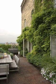 Slyngplanter a la blåregn favntager terrassen, mit grønne must-have scenario. Spottet af Design Circus.