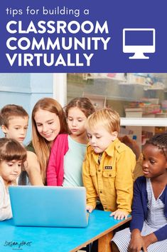 Are your students doing distance or remote learning?! In this blog post, I share 3 easy tips to help build a classroom community virtually! Head over to the post to grab 3 FREE community building activities to do with your students!