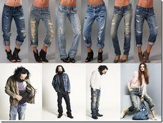 Примеры рваных джинсов бойфренда