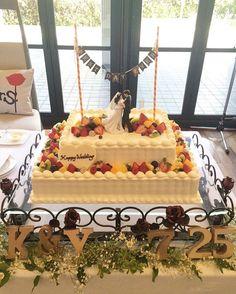 ⑅ #marry本装飾アイテム ⑅ #ウェディングケーキ #ケーキ装飾 #ケーキトッパー #ケーキガーランド #ケーキバンディング #結婚式 #披露宴…