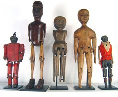 "Antique folk art ""limberjacks""."