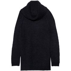 Alice + Olivia Fey chunky-knit turtleneck sweater (10,840 MKD) ❤ liked on Polyvore featuring tops, sweaters, blue, knit sweater, knit turtleneck, chunky sweaters, turtleneck sweater and polo neck sweater