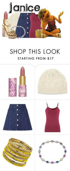 """Janice"" by invadergarb ❤ liked on Polyvore featuring tarte, Johnstons of Elgin, Lipsy, Comptoir Des Cotonniers, ABS by Allen Schwartz, Blue Nile and Charlotte Olympia"