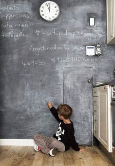 Missing our chalkboard wall in our Sydney House Kitchen via House Crashing: Stunning In Sydney | Young House Love