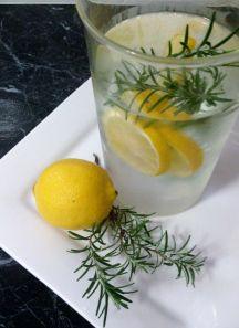 lemon and rosemary water