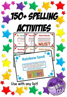 150+ Spelling Activities for ANY list!