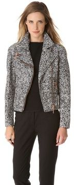 Cedric charlier Scribble Leather Moto Jacket on shopstyle.com