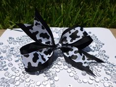 Cow Print Bow Large by krapflgirl on Etsy, $3.50