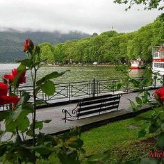 Lake of Ioannina town, Epirus region, east Greece River Rock Landscaping, Landscaping With Rocks, Santorini Villas, Myconos, Italy Spain, Paradise On Earth, Spain And Portugal, Ancient Greece, Greece Travel