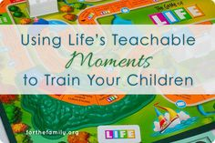 This is a great example of using an experience with your children as a teaching tool for training them.