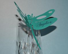 25 Dragonfly  Escort / Place Cards by asweetgift on Etsy, $25.00