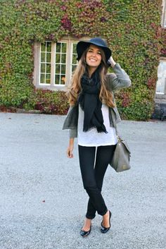 I've been looking for a cute way to wear my big floppy black hat
