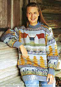 Design 'Lato' by textile artist Sirkka Könönen. Knit Art, Fair Isle Pattern, Textile Artists, Double Knitting, Yarn Crafts, Knitting Yarn, Pullover, Wearable Art, Beautiful Outfits