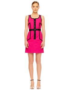 MICHAEL Michael Kors  Front-Zip Contrast Dress.