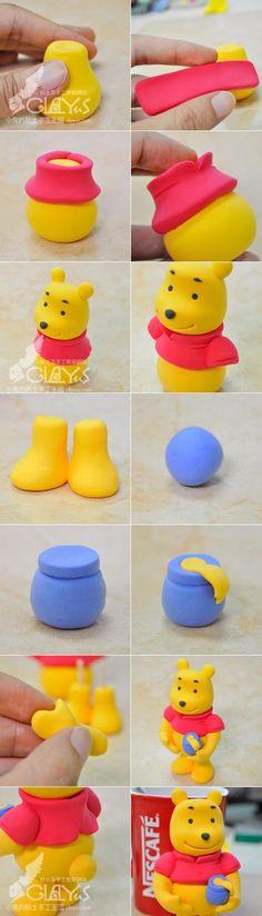 Winnie the Pooh WINNIE THE POOH clay body production method