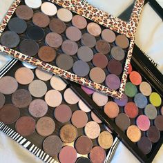 """Oh MAC eye shadows, how I love you. I'm sorry I ignore you sometimes but I promise I will always come back to you. Z Palette, Beauty 101, Mac Eyeshadow, Eye Shadows, Love You, My Love, Makeup Collection, Mac Cosmetics, Beauty Makeup"