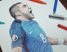 """Check out new work on my @Behance portfolio: """"Dimitri Payet Ballpoint Pen Drawing"""" http://be.net/gallery/40492955/Dimitri-Payet-Ballpoint-Pen-Drawing"""