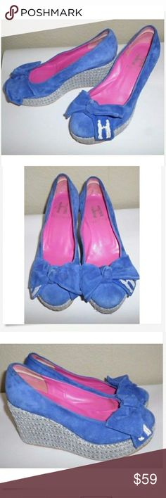 Hadleigh's Royal Blue Suede Wedges/ Heels Sz.37 Lovely royal blue in color These are so rare and sought after Excellent shape and a great price too Hadleigh's Shoes Wedges